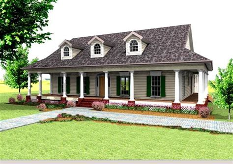 bungalow country southern house plan 64519