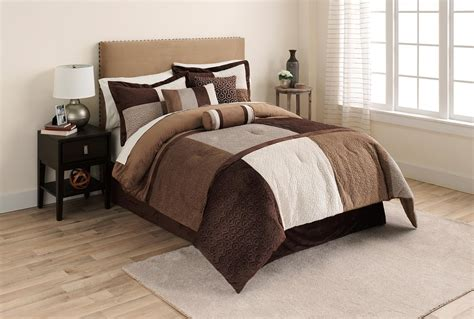 cannon 7 piece microsuede comforter set grant colorblock