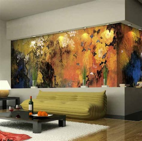 living room wall murals 10 living room designs with unexpected wall murals decoholic
