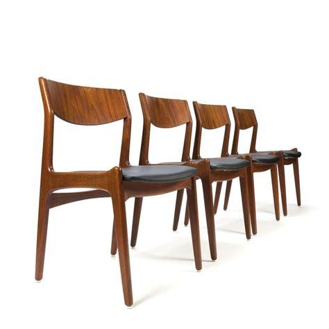 eettafel stoelen sale vintage teakhouten deense stoelen set van 4 retro studio
