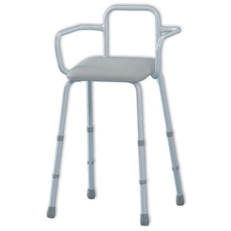 Perching Stool With Back And Arms by Sherwood Perching Stool With Back And Arms Perching