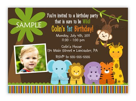 free printable birthday invitations jungle theme wild jungle theme birthday party invitation boy or girl you