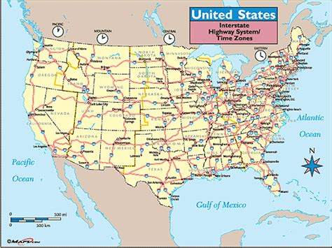 large us road map united states time zones interstate highways map by maps