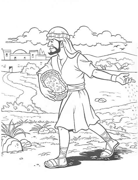 coloring book album meaning parable of the soils sower sows the seed bible nt
