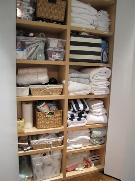 Linen Closet Organizers by T H E O R D E R O B S E S S E D What I Did Today