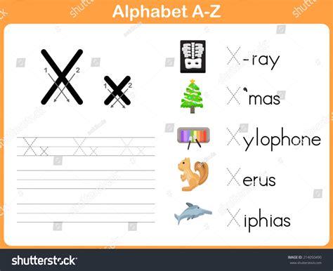 Alphabet Tracing Worksheets Az by Alphabet Tracing Worksheet Writing Az Stock Vector