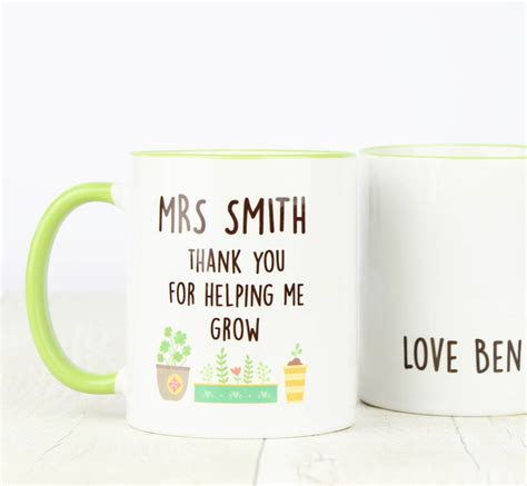 mugs for gifts personalised thank you gift mug by tea