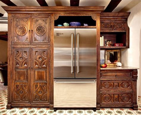 Carved Kitchen Cabinet Doors by Colonial Carved Custom Cabinets Portfolio Picture