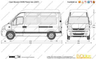 Vauxhall Movano Dimensions The Blueprints Vector Drawing Opel Movano Mwb