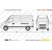 The Blueprintscom  Vector Drawing Opel Movano MWB Panel Van