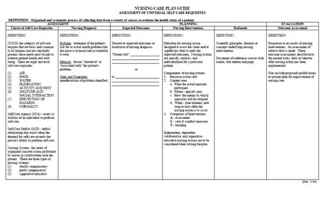 how to write a nursing care plan template free printable blank nursing care plan