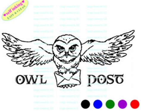 harry potter coloring book owl post owl post harry potter hedwig owl post mail self inking