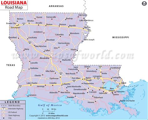louisiana road map http www mapsofworld