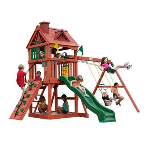 home depot swing sets for kids gorilla playsets nantucket cedar playset 01 0021 the