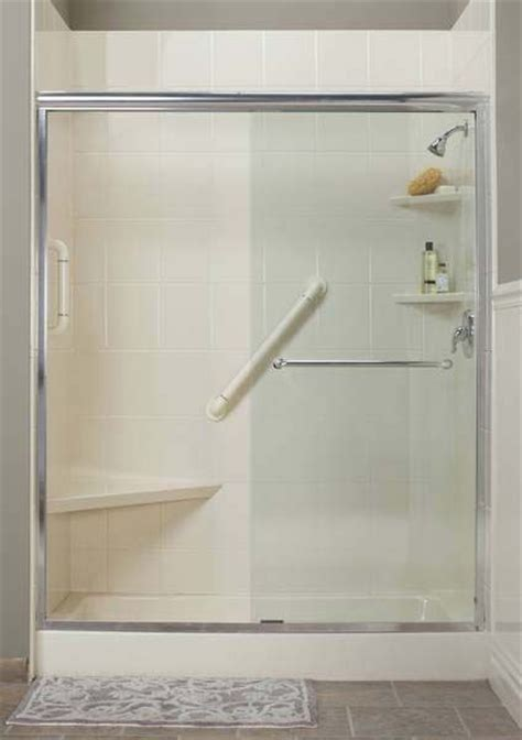 Acrylic Grab Bars For Shower by Bathroom New Acrylic Shower With Built In Seat And Grab