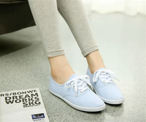 Sepatu Datar Flat Shoes Sepatu Wanita musim gugur fashion wanita dan gadis classic canvas sepatu