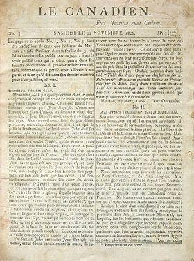 le canadien (journal) — wikipédia