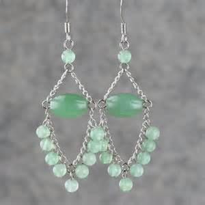 diy chandelier earrings jade dangling chandelier loop earrings handmade