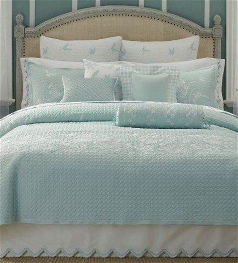 summer coverlet king martha stewart bedding summer meadow blue embroidered