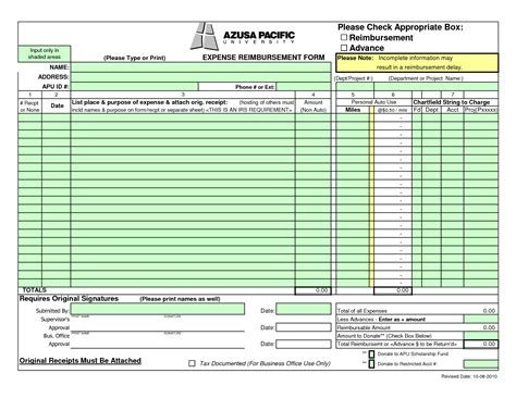 expense reimbursement template excel best photos of printable travel expense forms free
