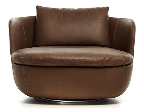 Bart Swivel Lounge Chair Hivemodern Com Club Swivel Chairs