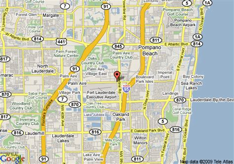 where is fort lauderdale florida on the map map of la quinta inn cypress creek fort lauderdale fort