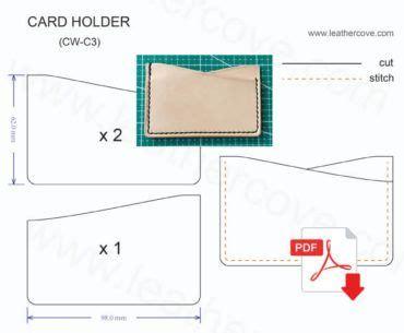 Wallet Card Template Pdf by Slim Card Holder Pattern Pdf Patternmaking