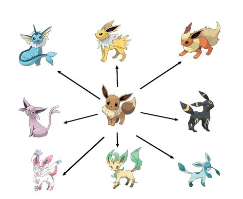 evolution tpe silver type eevee pokemon images pokemon images