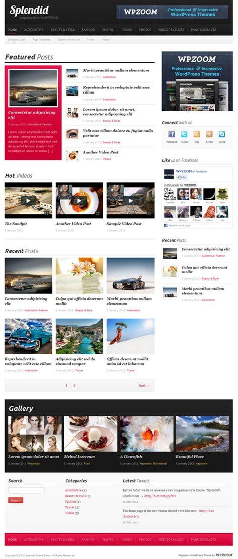 wordpress homepage layout manager splendid magazine wordpress theme