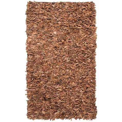 Safavieh Leather Shag Rug by Safavieh Leather Shag Brown 6 Ft X 9 Ft Area Rug Lsg511k
