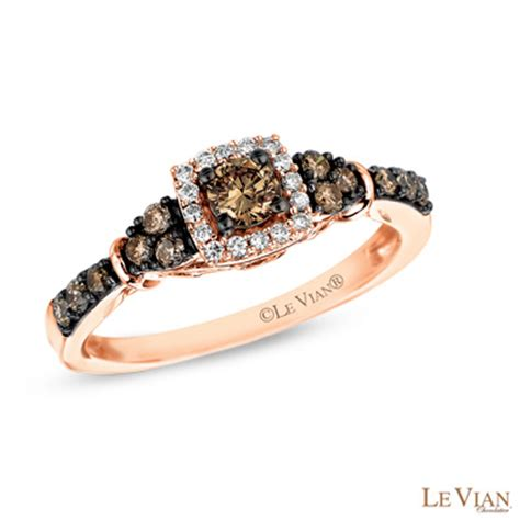 le vian chocolate diamonds 174 7 8 ct t w frame tri