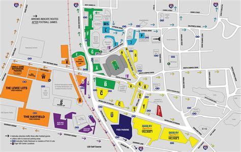 lsu football parking map lsu cus map www pixshark com images galleries with