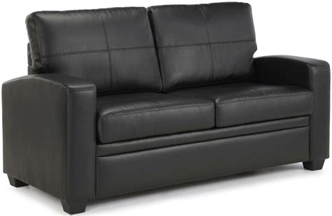 small black leather sofa bed buy serene turin black faux leather sofa bed online cfs uk