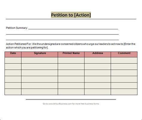 Blank Petition Template 24 Sle Petition Templates Pdf Doc Sle Templates