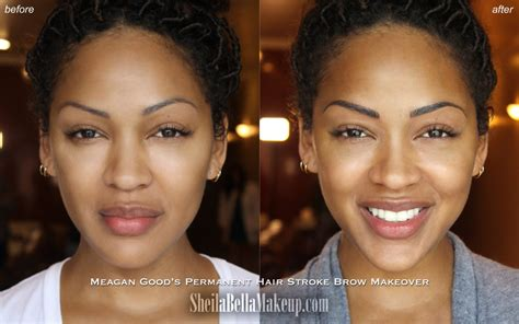 meagan good tattooed eyebrows i tried microblading the semi permanent eyebrow tattooing