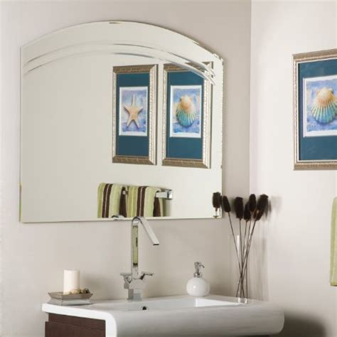 black friday large frameless bathroom wall mirror