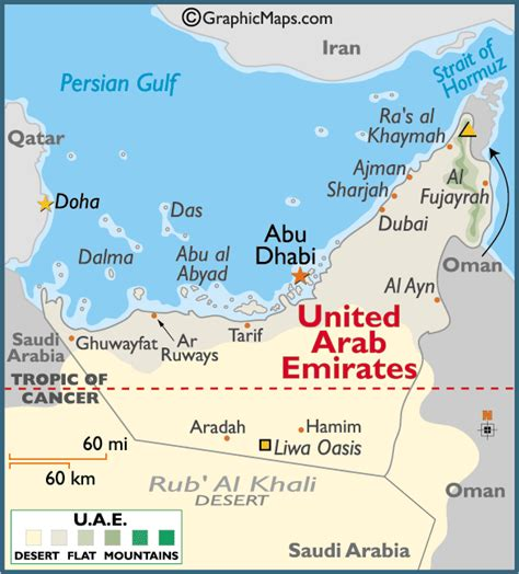 map abu dhabi and dubai map the united arab emirates
