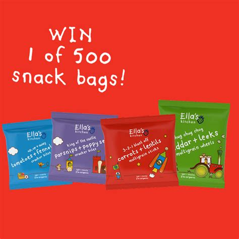 Ella S Kitchen Free Weaning Pack by Free Ella S Kitchen Toddler Snack Packs Win 1 Of 500