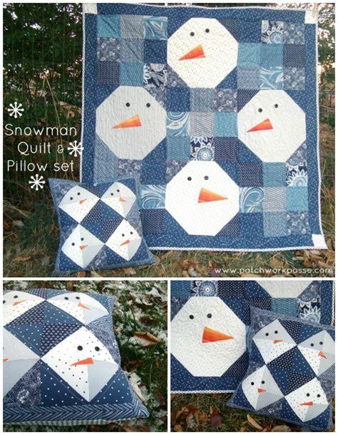 Patchwork Posse - snowman pillow tutorial