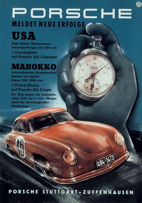 porsche poster vintage coldtrackdays