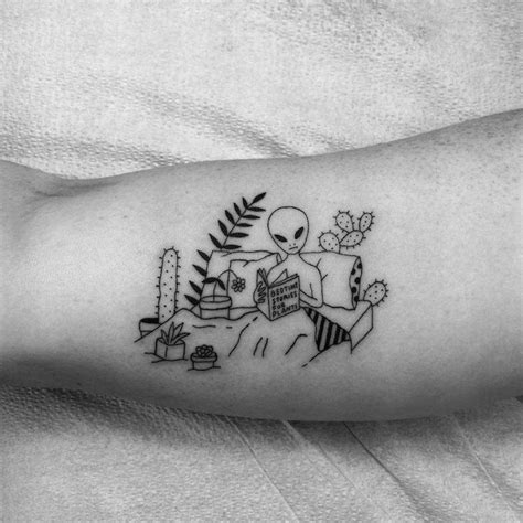 Minimalist Tattoo Artist Texas | funny tattoos by sean from texas inspired by line drawings