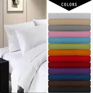 pocket 4 bed sheet set solid bedding set