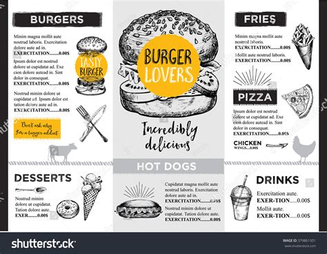 restaurant flyer design vector restaurant brochure vector menu design vector stock vector