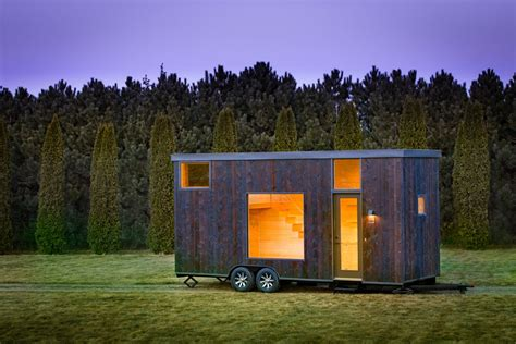 Cabin Plan new tiny house is a calming blank slate curbed