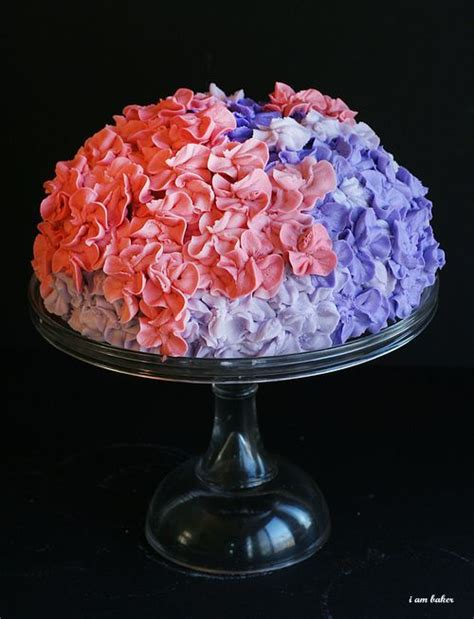 hydrangea cake hydrangea cake tutorial decorating cake decorating