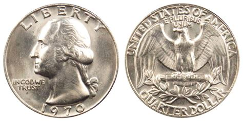 1970 d washington quarters clad composition value and prices