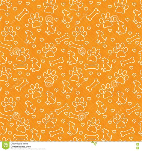android background pattern repeat orange and white doggy tile pattern repeat background