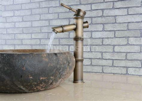 designer polished brass bamboo shape centerset bathroom antique brass bathroom sink tap bamboo shape design