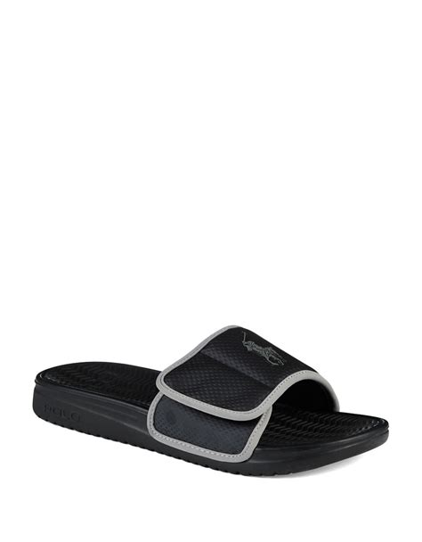 mens polo sandals polo ralph romsey sandals in gray for lyst