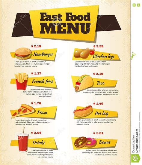sle chalkboard menu template fast food restaurant menu design best food 2017